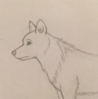 Helmeilevä susi hahmo